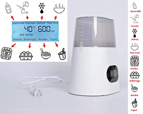 Baby Bottle Sterilizer & Warmer for Breastmilk with High Temperature Steam Sterilizer, Stainless Steel Liner, Double-Screen Display, LCD Intelligent Display, Intelligent Dry Burning, Intelligent Touch by VAZBERZ (Image #5)