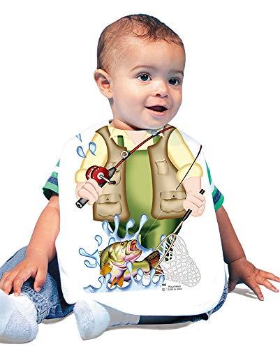 Just Add A Kid Baby Boy's Fisherman 135 Baby Bib 0-6 Months White ()