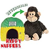 Happy Nappers - Cheeky Monkey- Pillow and Pet in One! Reversible from Pillow to Pet -Childrens / Childs Travel pillow - Bedtime aid (Full Size) by Happy Nappers