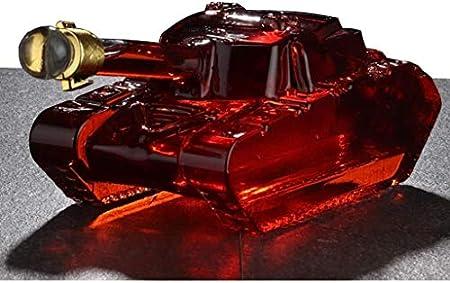 WJJ Botella de Whisky Cristal Decantador De Whisky - Modelo De Tanque Aeroador De Botella De Vino, Con Cristal Artesanal Brandy Tequila Bourbon Scotch Rum Container Alcohol Decanter Decantadores de Vi