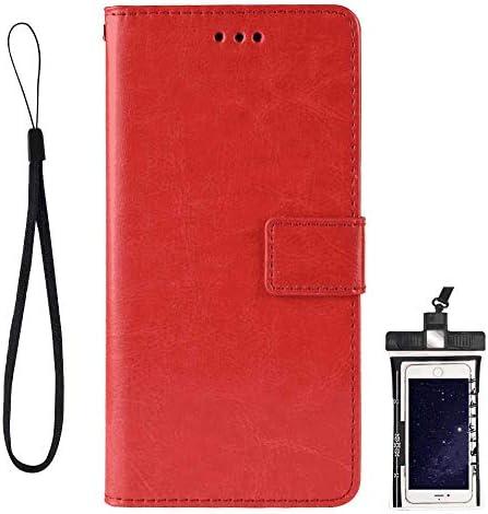 全面保護 手帳型 Samsung Galaxy M10 ケース 本革 レザー カバー 対応 耐摩擦 軽量 保護ケース スマートフォンケース [無料付防水ポーチケース]