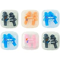 Every Cares Silicone Swimming Earplugs, 6 Pairs,...
