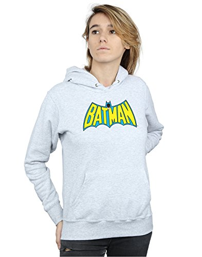 Dc Batman Capucha Logo Retro Mujer Cuero Gris Comics ATqwxrvEA