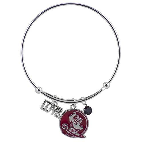 SANDOL Florida State Seminoles Coil Love Bangle Bracelet (Logo State Seminoles Florida Charm)