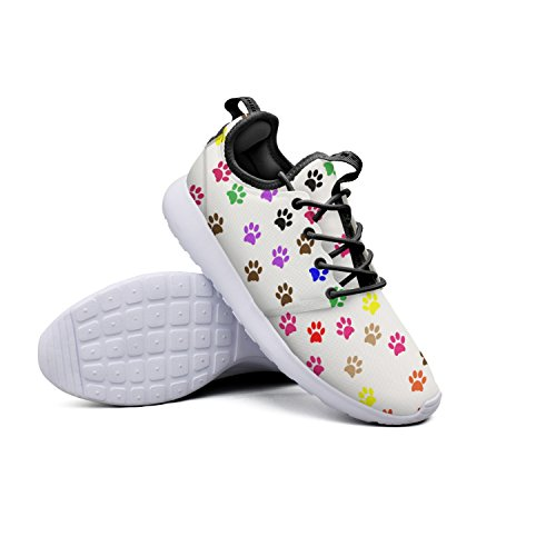 Cat Or Dog Footprints Designer Women's Sneaker Sneakers Lightweight Non-slip Walking Shoes by Qiongxuan