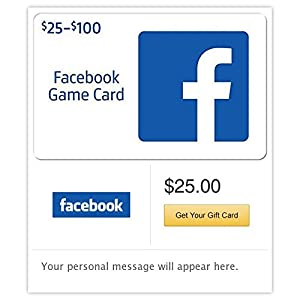 Amazon facebook gift cards e mail delivery gift cards negle Choice Image
