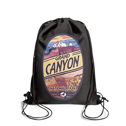 Grand Canyon National Park Unisex Drawstring Handbags Large Nylon Waterproof Sports Sports Backpack