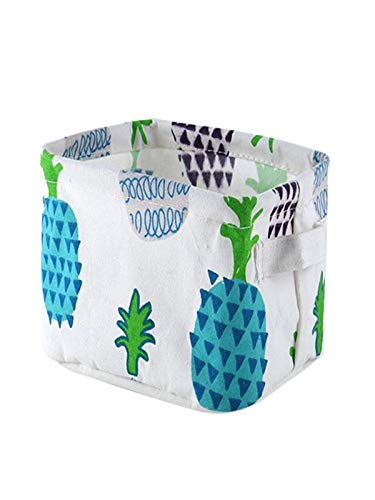 CapsA Foldable Cotton Storage Basket Small Desktop Storage Box Rectangular Storage Basket