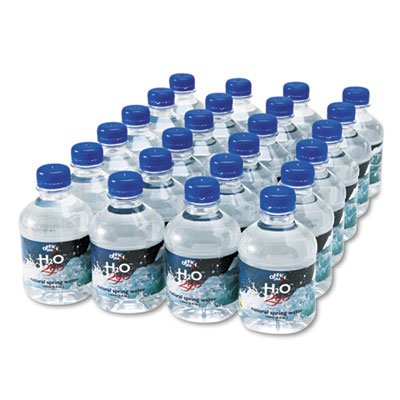 Office Snax Bottled Spring Water, 8 oz., 24 Bottles/Carton