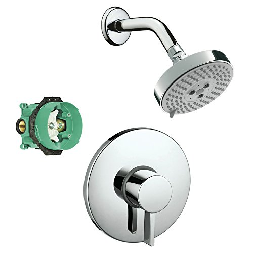 hansgrohe-ks04233-27474pc-2-raindance-downpour-air-10-in-showerhead-kit-with-pbv-trim-rough-in-chrom