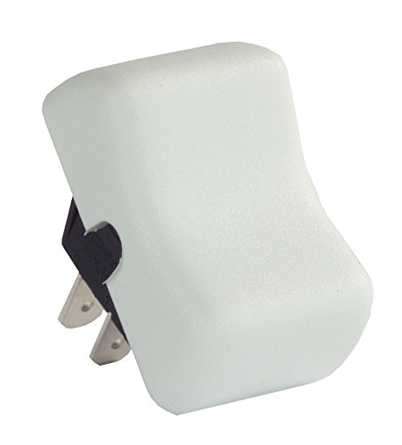 JR Products 12035 White SPST On-Off Switch