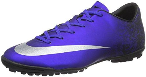 Nike Herren Mercurial Victory V CR TF Fußballschuhe, Blau (Deep Royal Blue/Metallic Silver-Racer Blue-Blue), 45 EU