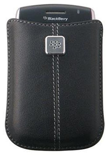 BlackBerry 9700, 8900, 8520 Curve Leather Pocket / Case - Black