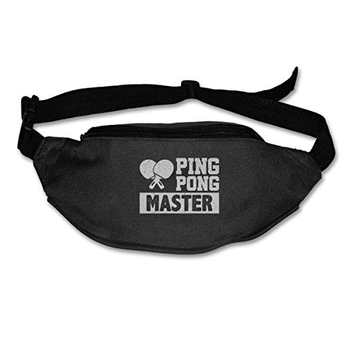 Ping Pong Master Sport Waist Bag Fanny Pack Adjustable For Hike