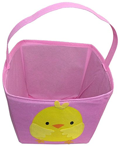 Fun Easter Chick Baskets with Handle (Pink)
