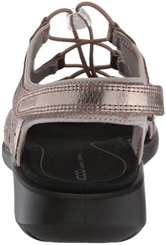 Ecco Zachte 5 Knevel-sneakers Voor Dames, Warm Grijs / Metallic