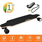 35.4'' Electric Skateboard 10km Range 250W Hub-Motor 2.9'' Wheels Longboard with Remote Controller Waterproof IP54 (Black)