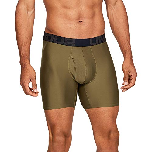 Under Armour Men's Tech 6-inch Boxerjock Boxer Brief - 1 Pack, Canyon Green//Pitch Gray, XX-Large