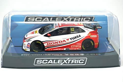 Scalextric BTCC Honda Civic Type R 2015 Honday Yuasa Racing Team #52 Gordon Shedden Slot Car (1: 32 Scale)