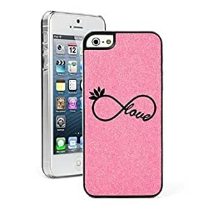 Apple iPhone 5c Glitter Bling Hard Case Cover Infinity Love Yoga (Pink)