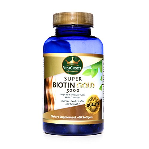 Super Biotin Gold 5000 Improves Hair Growth. Supports Stronger Nails & Better Skin Has Been Shown to help reduce bad Cholesterol. Feel Great Look Great Improve your Hair Nails and Skin (Biotin Super)