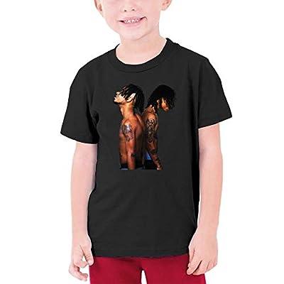 Rae Sremmurd SremmLife Cotton T Shirt Fashion Youth Tees Girls Boys Teenager Black
