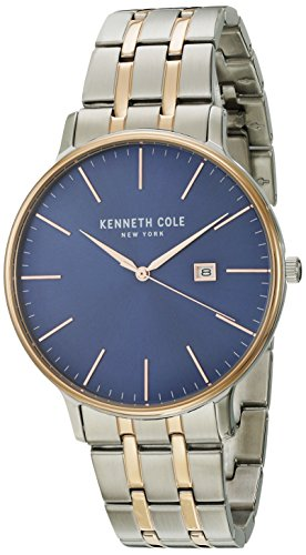 Kenneth Cole New York Men's 'Classic' Quartz Stainless Steel Dress Watch, Color:Two Tone (Model: KC15095002)