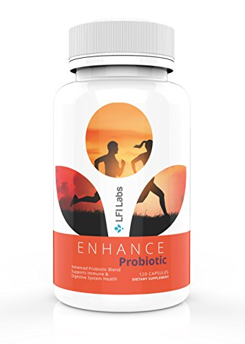 Enhance Probiotic Gut Microbiome Supplement - 750 Million CFU - Support Immune System, Weight Loss, Heart Health, Natural Digestive Enzymes - for Men & Women -120 Vegetable Capsules 200mg -USA Made