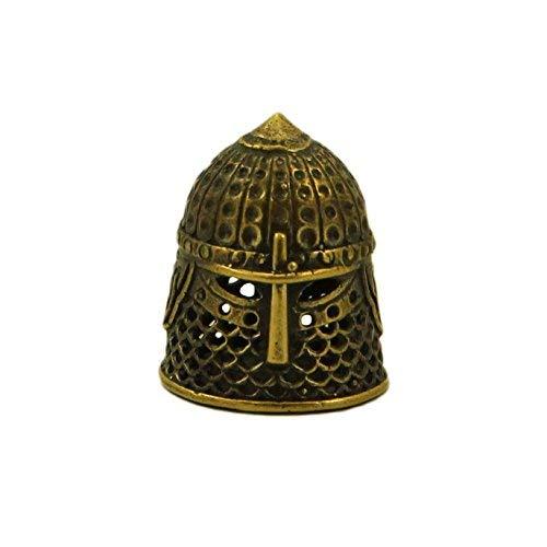 Thimble Helmet Bronze Statuette Handmade Figurine