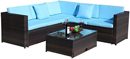 JAXPETY 4PCs Patio Furniture Set
