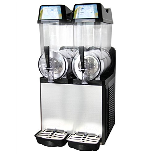 Photo Slush Machine- Slushie Machine and Beverage Dispenser with Two 12L Tanks, 110V and 60Hz, Make the Perfect Fine Ice Slushies with the Frozen Drink Machine, a U.S. Solid Product