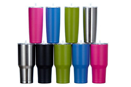 One Busy Life 20 oz Hot Pink Insulated Stainless Steel Tumbl