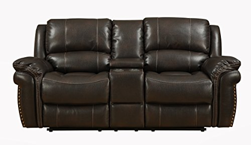 Pulaski Rivera Loveseat with Console, Chocolate