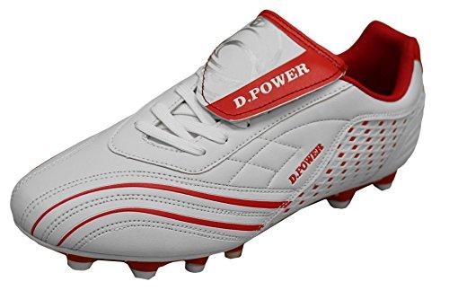 D Flexible athletische Fußball-Stollen der Männer Weiß Rot