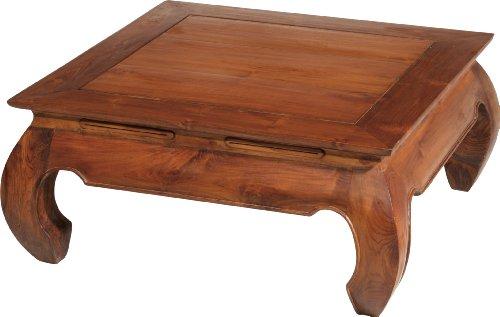 Destock Meubles Table basse carrée teck opium L80: Amazon.fr ...
