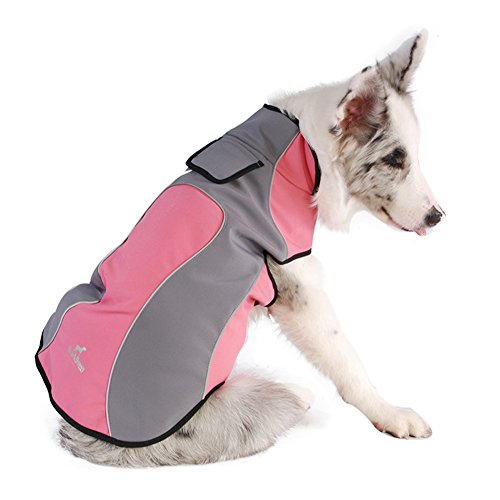 Pet Clothes For Spring Autumn Winter Waterproof And Warm Fleece Dogs Coat Jacket Outdoor Reflective Safety Raincoats
