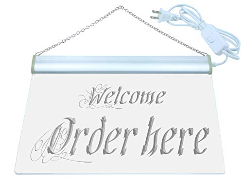 ADV PRO Welcome Order Here Display Shop LED Neon Sign Green 12'' x 8.5'' st4s32-j695-g by ADV PRO