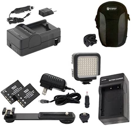 Syenrgy Digital Camera Accessory Kit Works with Canon PowerShot ELPH 115 IS Digital Camera includes SDC-22 Case SDM-1555 Charger LED-70 On-Camera Lighting