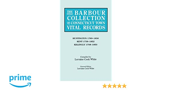 The Barbour Collection of Connecticut Town Vital Records [Vol  20