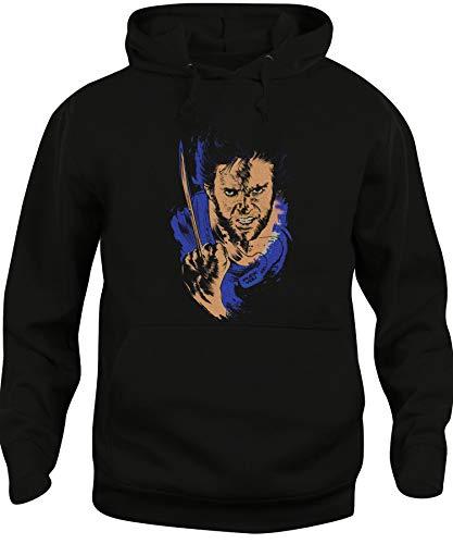 Cappuccio Spike Unisex Nera Wolverine Felpa Adamantio Tee Logan divertente Medio Dito E1Rw1qr