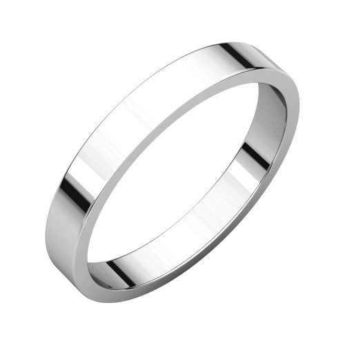 - Bonyak Jewelry Palladium 3 mm Flat Wedding Band in Palladium - Size 7