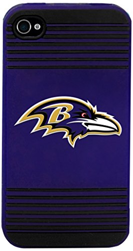Baltimore Ravens Team Logo Silicone Apple iPhone 4 & 4S Case ()