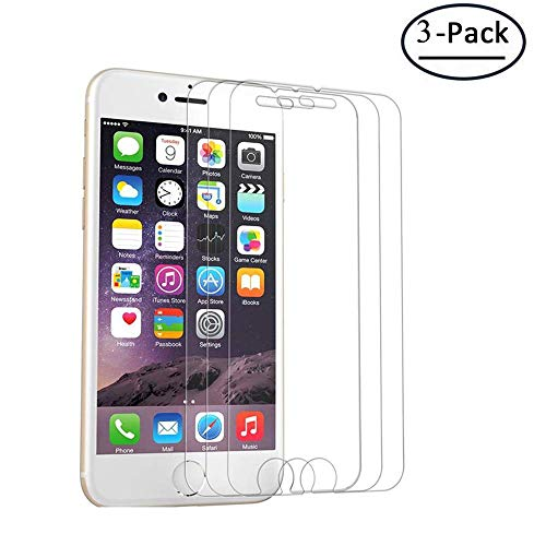 Screen Protector Glass Compatible for iPhone 8, 7, 6S, 6,Tempered Glass Screen Protector,Easy Installation, Case Friendly Compatible for 4.7-inch iPhone 8 7 6s 6(3-Pack) (iphone4.7i-3packs)