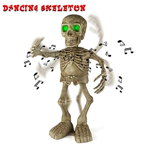 Sophisticated Halloween Decorations (Sler Halloween Skeleton Decoration Dancing and Singing Indoor Animated Flashing Eyes for Halloween Decor Trick or Treat Event for Kids Haunted House Halloween Party Prop)