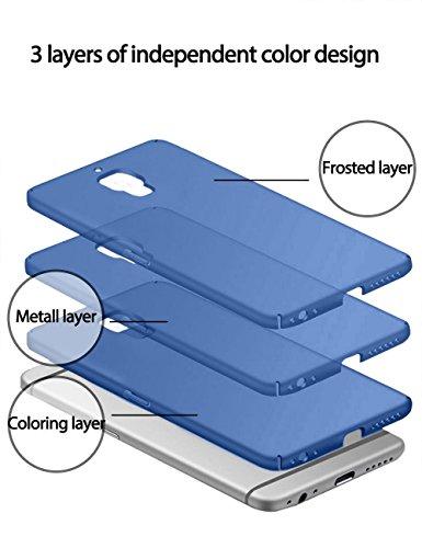 SMTR OnePlus 3 /3T Funda, Calidad Premium Cubierta Delgado Caso de PC Hard Gel Funda Protective Case Cover para OnePlus 3 /3T -rojo Oro rosa