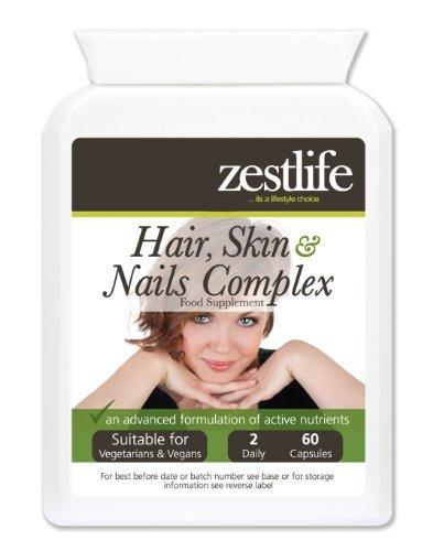 Zestlife PELO PIEL Y UÑAS! Soporte cápsula 60 | Una formulación de nutrientes completa de vitaminas, minerales, aminoácidos y antioxidantes que ...