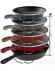 SimpleHouseware Kitchen Cabinet Pantry Pan and Pot Lid Organizer Rack Holder, Chrome