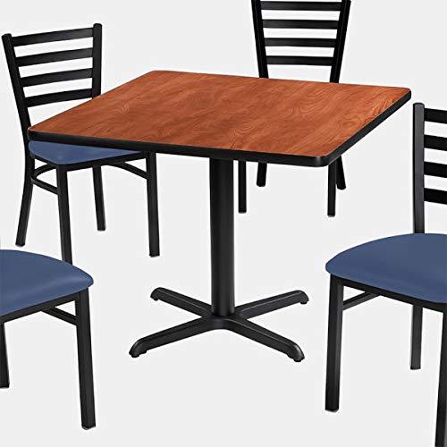 Cast Iron X Base Dining Table - Laminate Dining Table - Wild - Wild Cherry Laminate