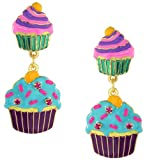 Lunch at The Ritz 2GO USA Cupcake Snack Earrings Clips