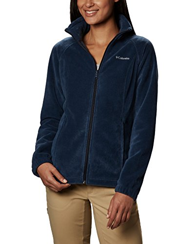 Columbia Women's Benton Springs Classic Fit Full Zip Soft Fleece Jacket, Navy, Medium
